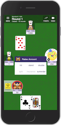 Playing multiplayer Blackjack card game online