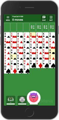 Playing multiplayer FreeCell Solitaire card game online