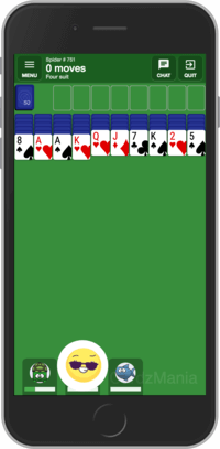 Playing multiplayer Spider Solitaire card game online