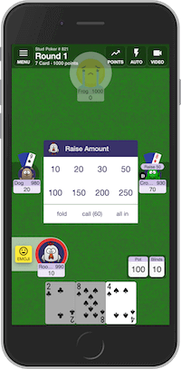 Playing multiplayer Stud Poker card game online