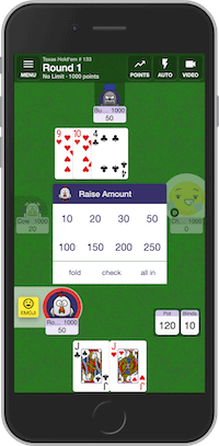 Playing multiplayer Texas Holdem card game online