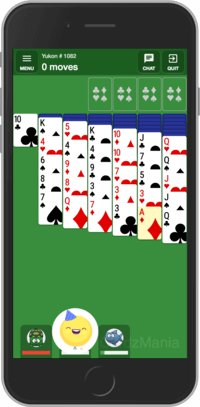 Playing multiplayer Yukon Solitaire card game online